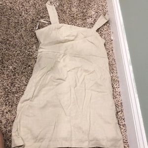 Woven Khaki Dress Short Length. Forever 21